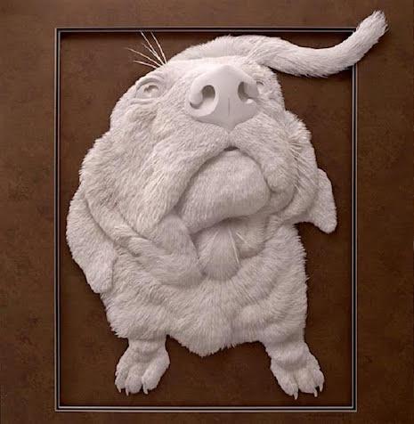 Dog_Paper Sculpture Calvin Nichols_AIE