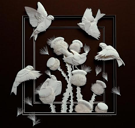 Flying Birds_Paper Sculpture Calvin Nichols_AIE