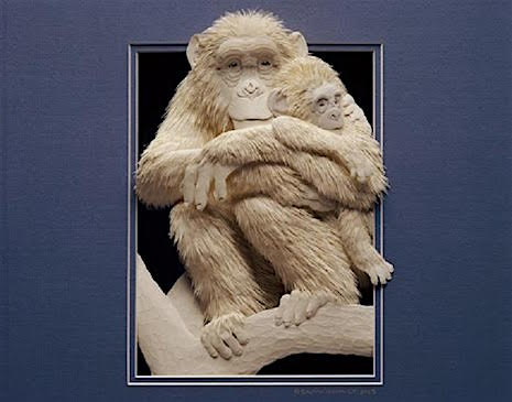 Mama Monkey_Paper Sculpture Calvin Nichols_AIE