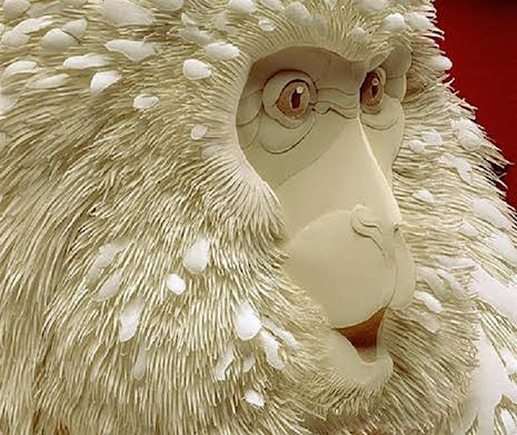Monkey Surprise_Paper Sculpture Calvin Nichols_AIE