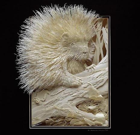 Porcupine_Paper Sculpture Calvin Nichols_AIE