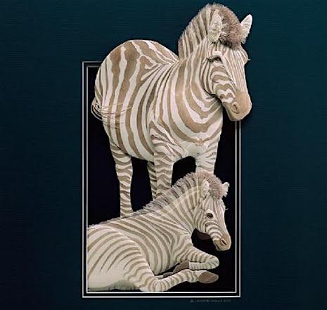 Zebras_Paper Sculpture Calvin Nichols_AIE
