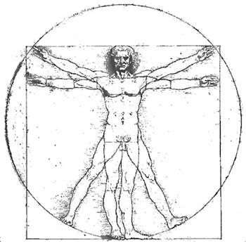 Leonardo Da Vinci's Vitruvian Man_ArtIsEverywhere