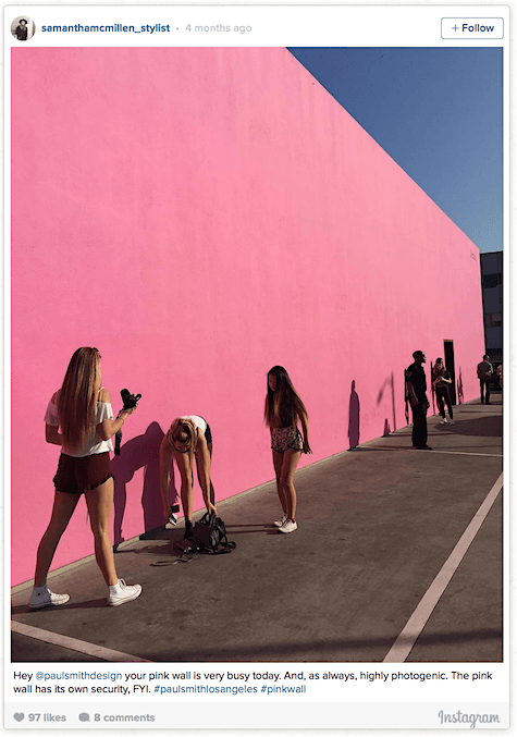 Paul Smith perfect pink wall_Instagram 2_Art Is Everywhere