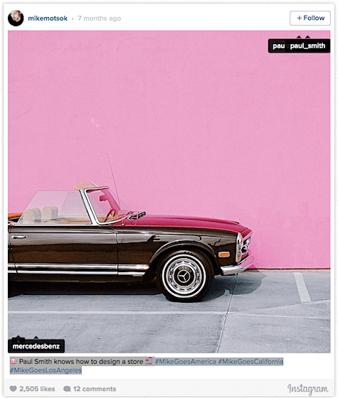Paul Smith perfect pink wall_Instagram_Art Is Everywhere