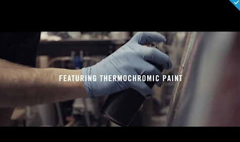Thermochomic paint video_via Creativity on Art Is Everywhere