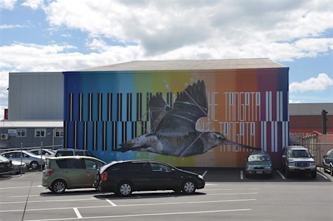 SeaWalls Mural Tautoko, at Napier Port by Charles and Janine Williams_AIE