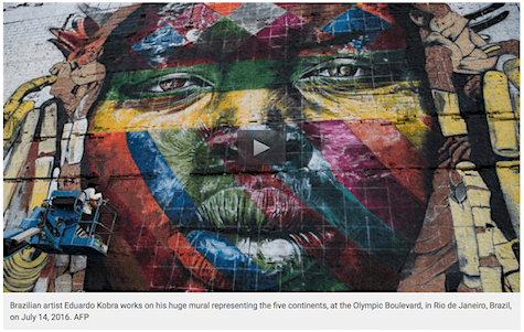 Kobra Summer Olympics begin mural_AIE