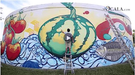 Ocala Nature water tank Mural_AIE