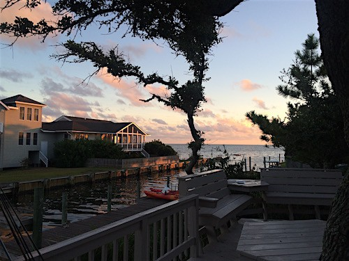 Sunset at Faraway Oaks in Ocracoke, NC_AIE