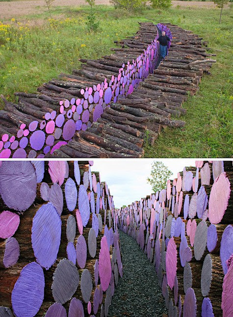 Colored Wood Pile_AIE