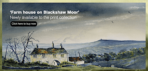 Farmhouse on Blackshaw Moore by Ashley Spencer of Yorkshire on Art Is Everywhere