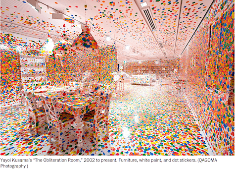 Yayoi Kusama Obliteration Room on AIE