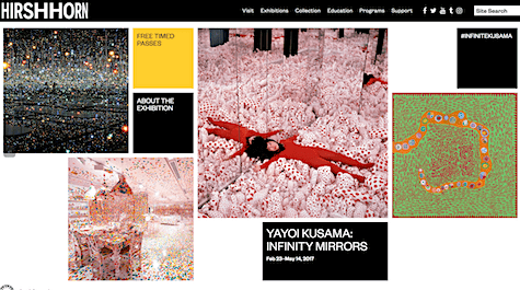 Yayoi Kusama Hirshhorn exhibit on AIE