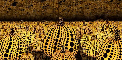Yayoi Kusama love dot gourds on Art Is Everywhere