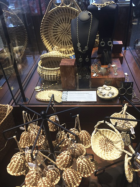 Reproductions of Mary Jackson's baskets in the gift shop on AIE