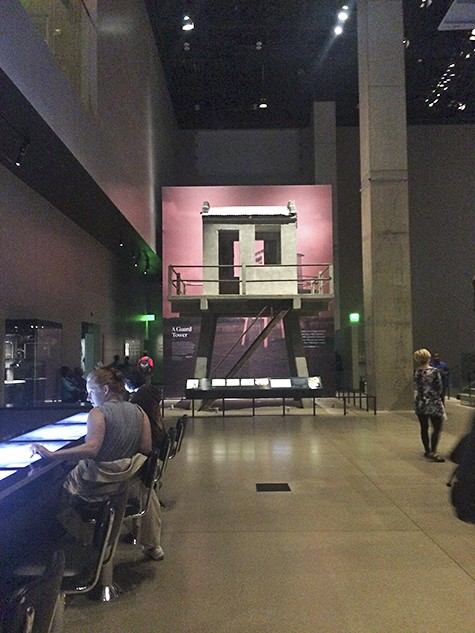 Angola guard station_interactive bar at NMAAHC on AIE