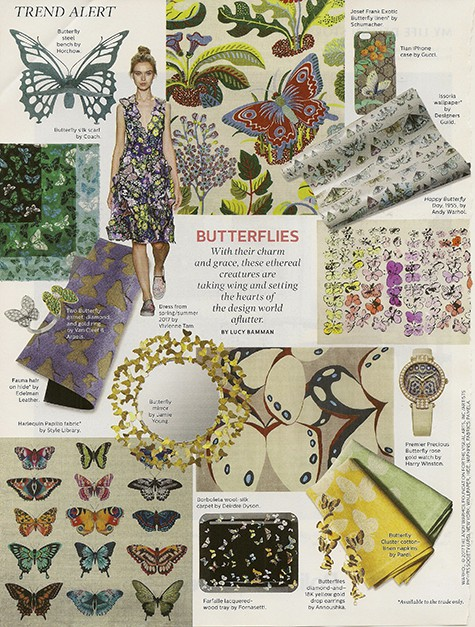 Butterflies everywhere in style via Elle Decor on Art Is Everywhere