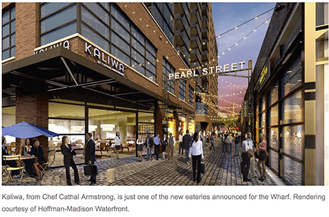 Wharf Development Rendering via Washingtonian on AIE