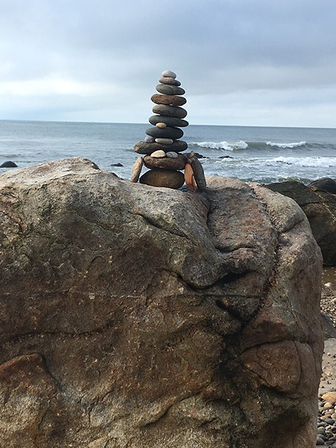 Beach Cairn on Art Is Everywhere