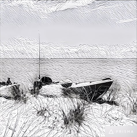 Beach Kayaks photo turned into illustration on Art Is Everywhere