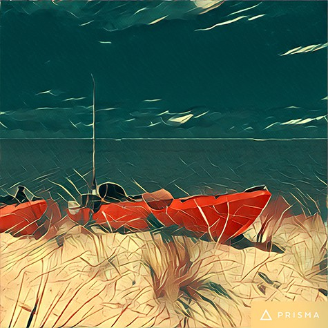Beach Kayaks photo turned into art on Art Is Everywhere