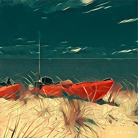 Beach Kayaks photo turned into art on Art Is Everywhere