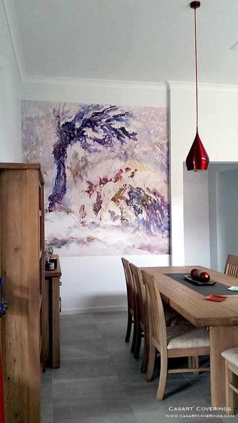 Casart Coverings Vintage AK Impasto Tree Artwork self-adhesive Mural_AIE