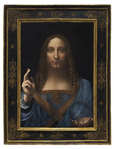 Leonardo's Last Painting Mundi_framed_Christies auction_AIE