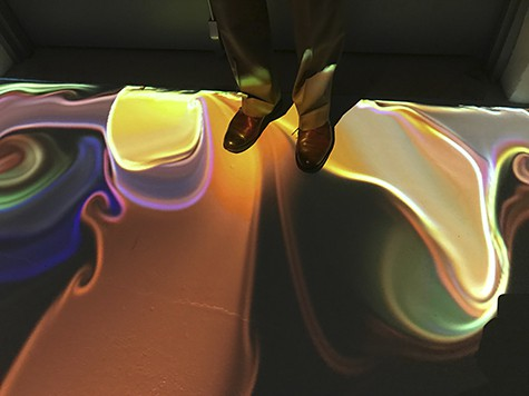 Liquid light floor at Artechouse on ArtIsEverywhere