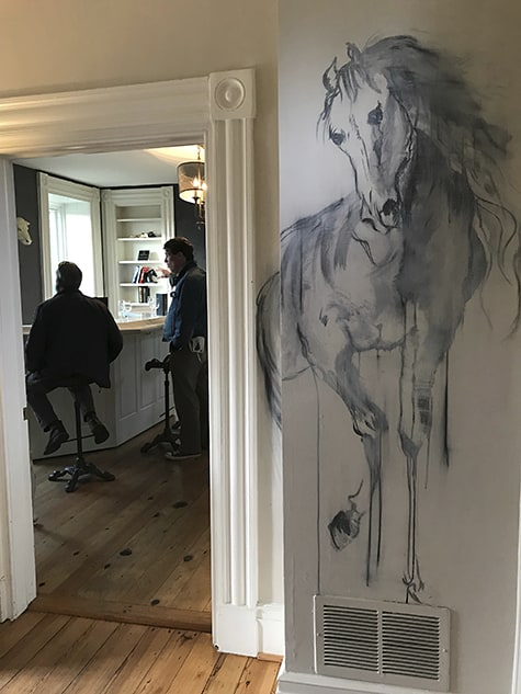 Painted horse at Green Hill_AIE