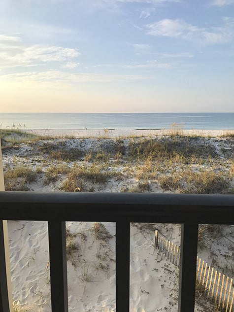Gulf Shores view every morning from our balcony_AIE