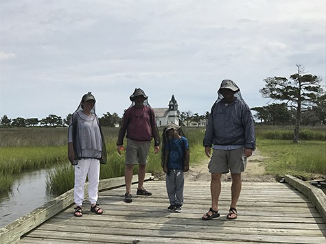 Gearing up for mosquitos on Portmouth Island_AIE