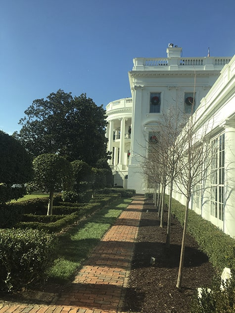 White House Gardens from inside on AIE