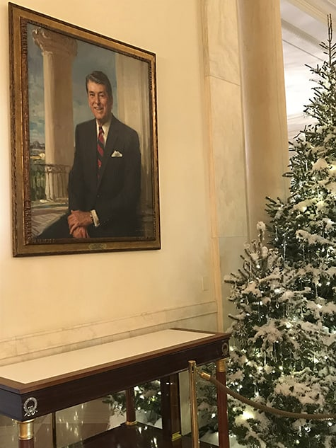 Reagan's Portrait directly across from JFK's_AIE