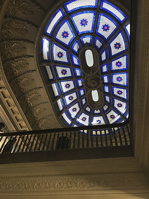 EOB Stained Glass Ceiling on Art Is Everywhere