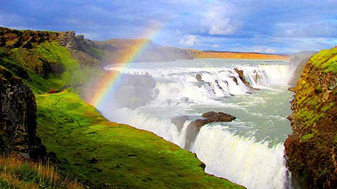 Gullfoss Waterfall Iceland via Buubble on Art Is Everywhere