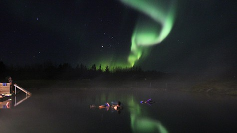 An Aurora Borealis Lagoon in Iceland via Buubble on Art Is Everywhere