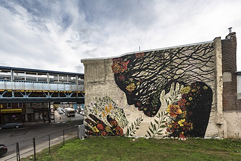 Mother Earth mural by Jess X Snow for We the people mural project on Art Is Everywhere
