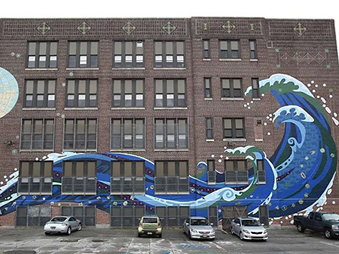 The Great Wave Mural on Art Is Everywhere