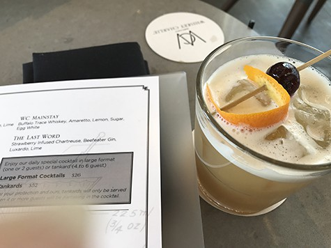 The WC Mainstay cocktail with the perfect marzipan-like balance_AIE