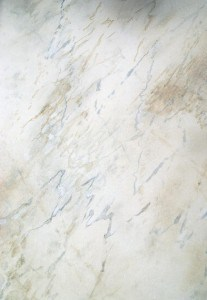 Detail Faux Carrara Marble Sample by Ashley Spencer