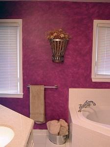 Eggplant Colorwash_Full Wall by Ashley Spencer