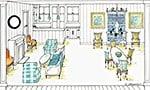 Interior Illustration by Ashley Spencer