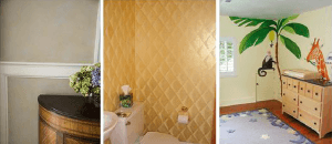 Faux Padded Harlequin room view by Ashley Spencer