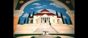 Palladian Villa mural detail by Ashley Spencer
