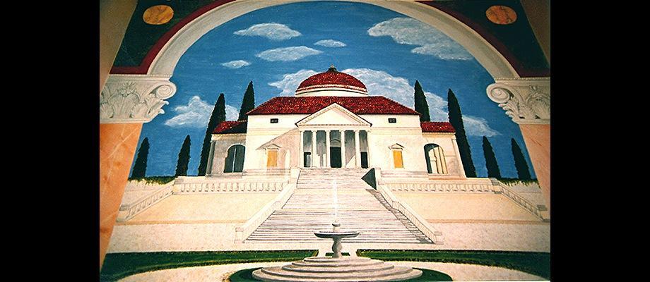 Palladian Villa mural detail by Ashley Spencer