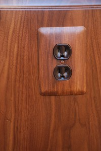 Faux Bois Switchplate, finishes, close up finishes, Ashley Spencer