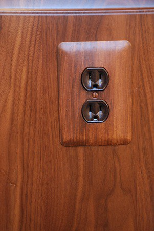Faux Bois Switchplate painted by Ashley Spencer