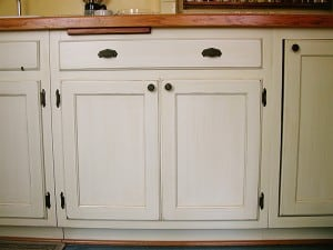 Aged Kitchen Cabinets Detail by Ashley Spencer